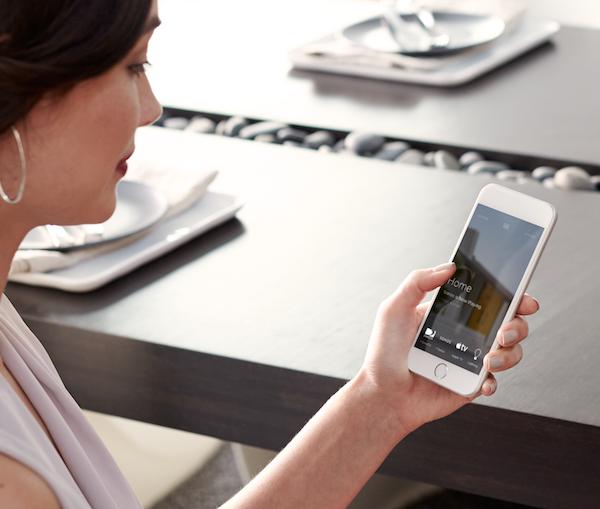 Savant app controls on iPhone